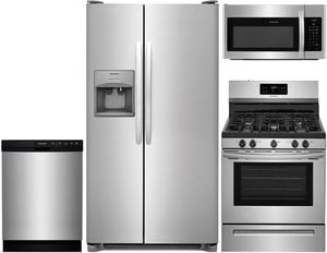 Whirlpool & Frigidaire 4 Pc Kitchen Appliance Package for Sale in Ashburn, VA