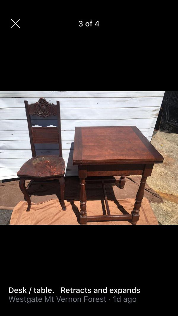 Ethan Allen table and chair.