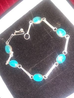 Silver bracelet with turquoise stone for Sale in Los Angeles, CA