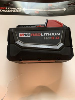 Milwaukee M18 HD9.0 Red Lithium Battery New for Sale in Wimauma, FL