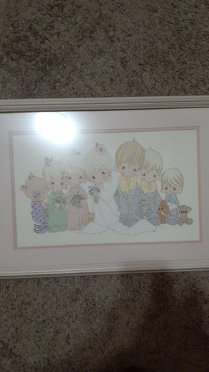 Precious Moments framed needlepoint art for Sale in Acampo, CA