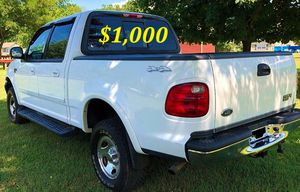 🟢💲1,OOO For sale URGENTLY this Beautiful💚2002 Ford F150 nice Family truck XLT Super Crew Cab 4-Door Runs and drives very smooth V8🟢 for Sale in Stanton, CA
