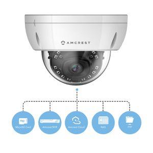 Amcrest UltraHD 4K (8MP) Dome POE IP Camera Security, 3840x2160, 98ft NightVision, 2.8mm Lens 69°-112°, IP67 Weatherproof, IK10 Vandal Resistance, Mi for Sale in Kennewick, WA