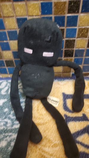 Minecraft Enderman Plushie (used, has small hole in head) for Sale in Hialeah, FL