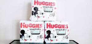 (3) Huggies Size 6 Diapers 19 Counts - $18 For All FIRM for Sale in Irvine, CA