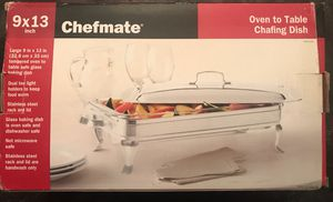 Chef mate chafing dish 9 x 13 for Sale in Long Beach, CA