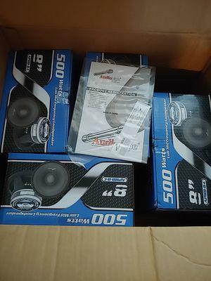 "4pair 8"" 500watts audiopipe speakers for Sale in Reading, PA"