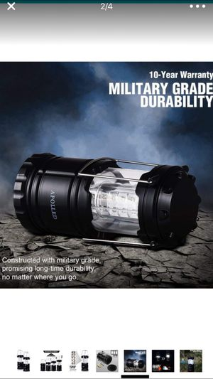 APOLLED Camping Lantern, 30-LED Collapsible Lantern with 6 AA Batteries, Survival Kit for Outdoor Camping, Emergency, Hurricane, Power Outage (Black, for Sale in Chandler, AZ