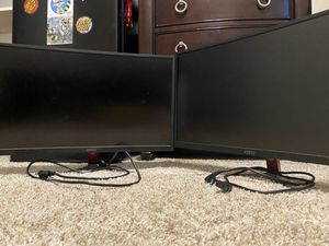 2 MSI Optix G24C Curved Gaming Monitor for Sale in Friendswood, TX