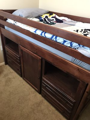 Kids Twin Loft Storage Bedframe With Dresser for Sale in Chino, CA