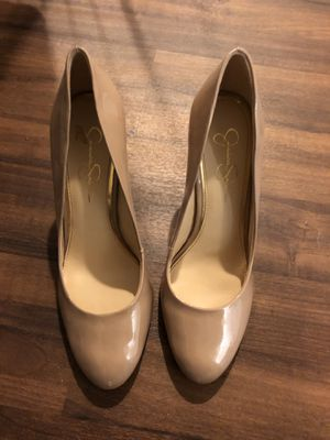 Nude patent leather heels for Sale in Chicago, IL