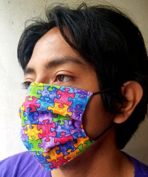 Autism Awareness Mask Face Covering, 100% Cotton .... $9 for Sale in South Gate, CA