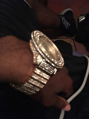 9.25 silver moisssnite diamond watch for Sale in Tampa, FL