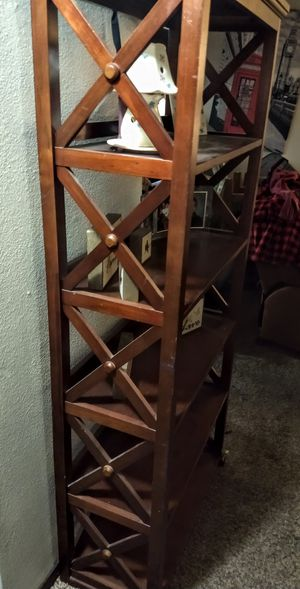 Beautiful wood shelves one of a kind just don't have a spot for them anymore for Sale in Spokane Valley, WA