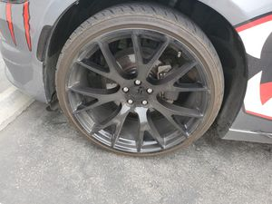 "Dodge hellcat rims 22"" with tires for Sale in Gilroy, CA"