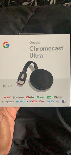 Google Chromecast Ultra for Sale in East Orange, NJ