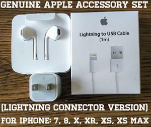 Genuine Apple Accessory Set (Lightning connector version) for Sale in Arlington, VA