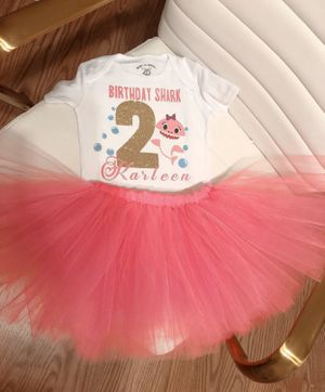 Baby shark party outfit for Sale in San Antonio, TX