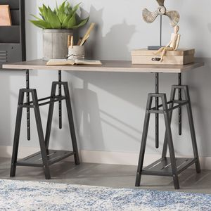 Wood top adjustable standing desk, w/o chairs for Sale in Foster City, CA