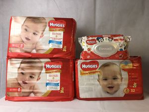 Huggies Snugglers 3 x 32pcs and wipes for Sale in Melvindale, MI