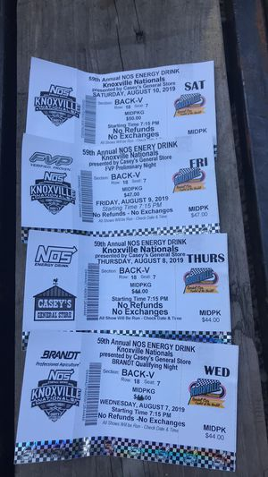 Knoxville national tickets for Sale in Knoxville, IA