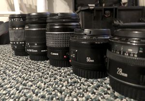 Canon lens collection - 5 lenses for Sale in Solana Beach, CA