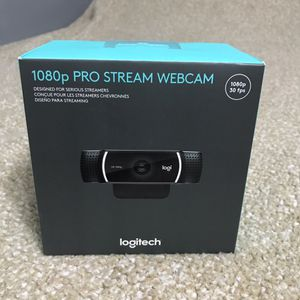 Logitech 1080p PRO Stream Webcam for Sale in Whittier, CA