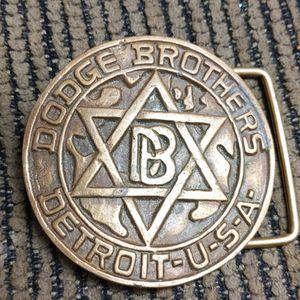 Dodge Brothers Detroit Brass Belt Buckle Vintage Round for Sale in Camp Pendleton North, CA