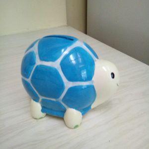 Turtle Piggy Bank Blue And White for Sale in Pompano Beach, FL