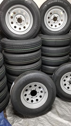 NEW TRAILER TIRES AND WHEELS STARTING AT $70+TAX AND UP TIRE/RIM ASSEMBLY SEE BELOW FOR DETAILS for Sale in Douglasville, GA