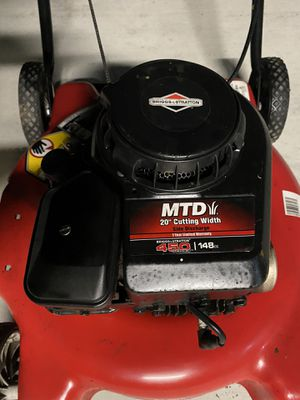 """Lawn mower MTD 20"""" (Runs first pull) for Sale in Riverside, CA"""