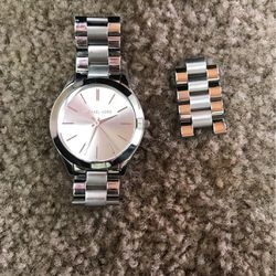 Michael Kors Silver Watch w/ extension piece for Sale in Portland,  OR