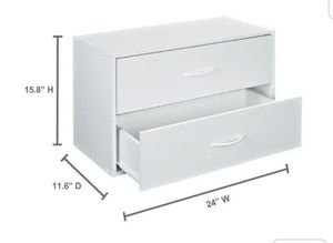 New ClosetMaid White Stackable 2-Drawer Organizer for Sale in Pasadena, CA