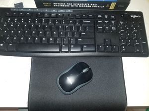 Logitech wireless keyboard & mouse (with mousepad) for Sale in Los Angeles, CA