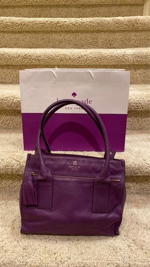 Kate Spade All Leather Purple Handbag. Original Price $425 for Sale in San Diego, CA