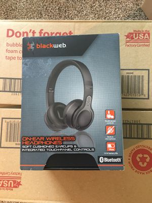 Black Web Bluetooth headphones for Sale in Humble, TX
