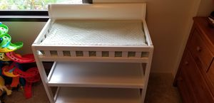 Baby/ infant Changing table with storage & pad for Sale in Mountlake Terrace, WA