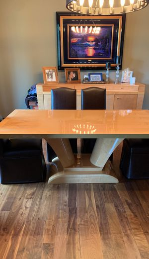 Dining table, buffer and armoire for Sale in Riverwoods, IL