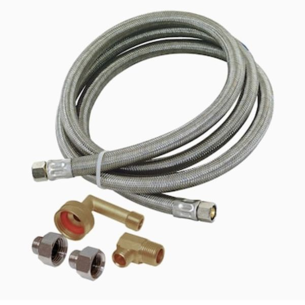 5-ft 3/8-in Compression Inlet x 3/8-in Compression Outlet Stainless Steel Dishwasher Connector {url removed}