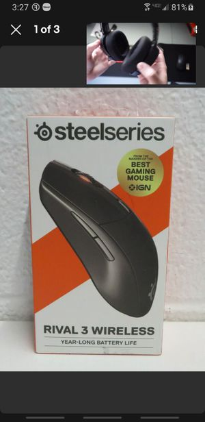 Steelseries Rival 3 Wireless mouse for Sale in Fort Worth, TX