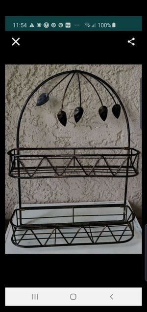 Wall hanger, 2 shelves, metal for Sale in Colton, CA