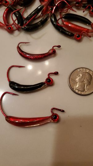 Fishing lures- weighted and coated jerk bait hooks for Sale in Hinckley, OH