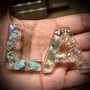 Custom Resin Letter Keychains/ornaments for Sale in Austin, TX