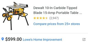 DeWalt Table Saw, Brand New for Sale in Alamo, TX