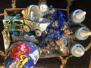 FREE royal Baby shower decorations and favors for a boy for Sale in San Diego, CA