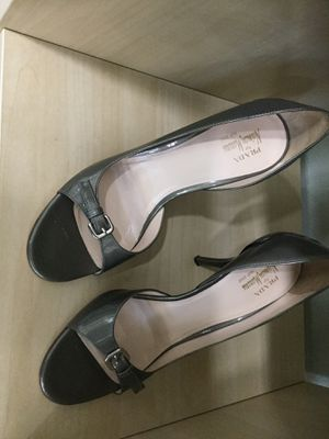 Prada SIlver heels 38 1/2 for Sale in Tampa, FL