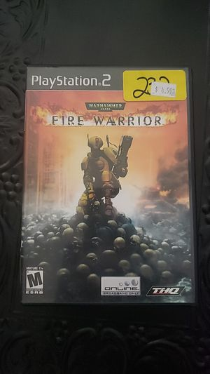 ps2 warhammer fire warrior for Sale in Littleton, CO