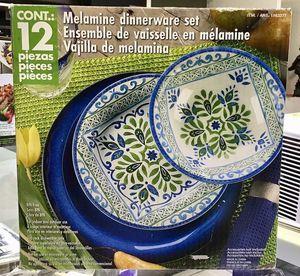 Melamine Dinnerware Set Vajilla de Melamina 12Pcs for Sale in Miami, FL
