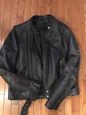 Great motorcycle riding jacket I've had for 25 years in good shape great protection jacket zippers on cuffs for Sale in Chesterfield, VA