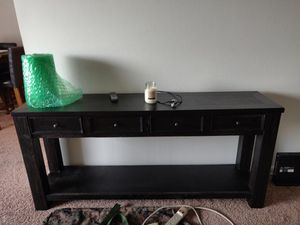 Black wood console for Sale in Philadelphia, PA